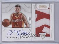 2011 Rookies Autographed Memorabilia - Chandler Parsons #/199