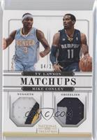 Mike Conley, Ty Lawson #/25