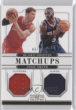 2012-13 Panini National Treasures - Matchups Materials #14 - Blake Griffin, Josh Smith /49