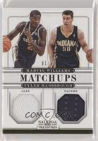 Marvin Williams, Tyler Hansbrough [Noted] #/99
