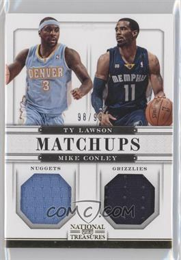 2012-13 Panini National Treasures - Matchups Materials #91 - Ty Lawson, Mike Conley /99