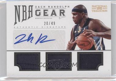 2012-13 Panini National Treasures - NBA Gear Combos - Triple Autograph [Autographed] #18 - Zach Randolph /49