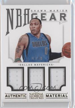 2012-13 Panini National Treasures - NBA Gear Combos - Triple #13 - Shawn Marion /49