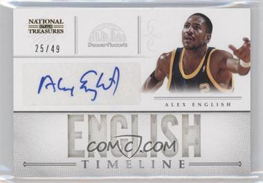 2012-13 Panini National Treasures - Timeline - Player Name Autograph [Autographed] #21 - Alex English /49