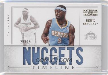 2012-13 Panini National Treasures - Timeline - Team Name #19 - Ty Lawson /99