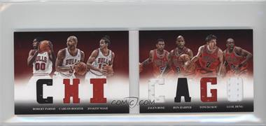 2012-13 Panini Preferred - Chicago Material Booklet #1 - Ron Harper, Toni Kukoc, Carlos Boozer, Jalen Rose, Joakim Noah, Luol Deng, Robert Parish /179