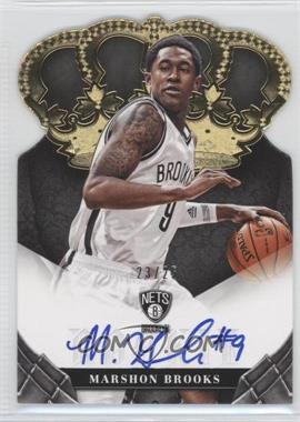 2012-13 Panini Preferred - Crown Royale Signatures - Gold #411 - MarShon Brooks /25