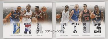 2012-13 Panini Preferred - Draft Material Booklet - Laundry Tag #2 - David West, Carmelo Anthony, Chris Bosh, Chris Kaman, Dwyane Wade, Kirk Hinrich, LeBron James /1