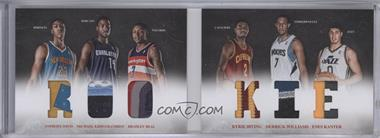 2012-13 Panini Preferred - Rookie Material Booklet - Prime #10 - Anthony Davis, Enes Kanter, Kyrie Irving, Michael Kidd-Gilchrist, Bradley Beal, Derrick Williams /25