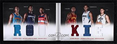 2012-13 Panini Preferred - Rookie Material Booklet #10 - Bradley Beal, Derrick Williams, Enes Kanter, Anthony Davis, Kyrie Irving, Michael Kidd-Gilchrist /249 [Noted]