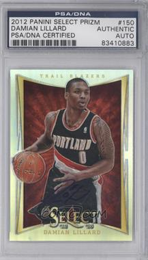 2012-13 Panini Select - [Base] - Prizms #150 - Damian Lillard [PSA/DNA Certified Auto]