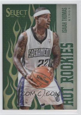 2012-13 Panini Select - Hot Rookies - Industry Summit Green Prizms #38 - Isaiah Thomas /15