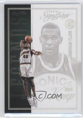 2012-13 Panini Signatures - Legends - Platinum #195 - Shawn Kemp /1