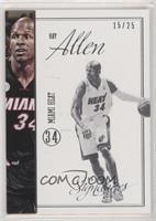 Ray Allen #/25