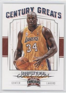 2012-13 Panini Threads - Century Greats #3 - Shaquille O'Neal