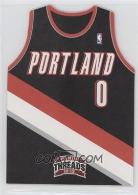 2012-13 Panini Threads - Rookie Team Threads Die-Cut #12 - Damian Lillard