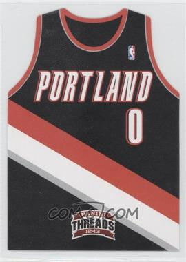 2012-13 Panini Threads - Rookie Team Threads Die-Cut #12 - Damian Lillard