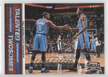 2012-13 Panini Threads - Talented Twosomes #1 - Kevin Durant, Russell Westbrook
