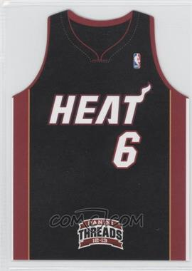 2012-13 Panini Threads - Team Threads Die-Cut #4 - Lebron James