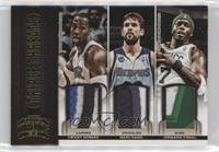 Dwight Howard, Jermaine O'Neal, Marc Gasol #/25