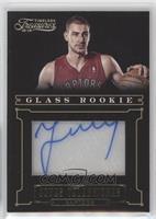 Glass Rookie Autographs - Jonas Valanciunas #/10