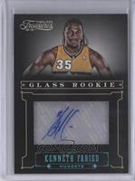 Glass Rookie Autographs - Kenneth Faried /1