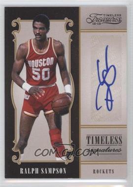 2012-13 Panini Timeless Treasures - Timeless Signatures #37 - Ralph Sampson /199