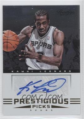 2012-13 Prestige - Prestigious Picks Signatures #14 - Kawhi Leonard