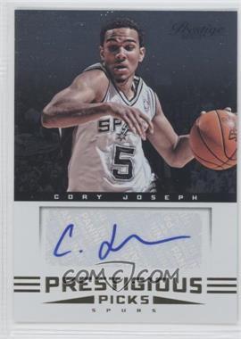 2012-13 Prestige - Prestigious Picks Signatures #26 - Cory Joseph