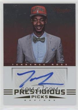 2012-13 Prestige - Prestigious Picks Signatures #52 - Terrence Ross