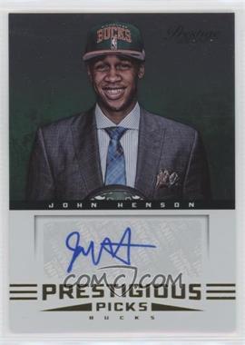 2012-13 Prestige - Prestigious Picks Signatures #58 - John Henson