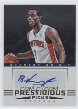 2012-13 Prestige - Prestigious Picks Signatures #7 - Brandon Knight