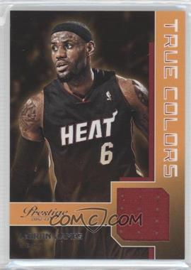 2012-13 Prestige - True Colors Materials #8 - Lebron James
