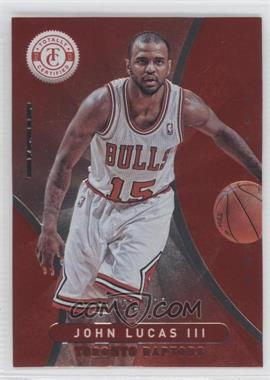 2012-13 Totally Certified - [Base] - Totally Red #133 - John Lucas III /499