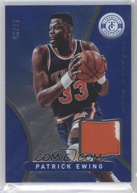 2012-13 Totally Certified - Memorabilia - Totally Blue Prime #41 - Patrick Ewing /25