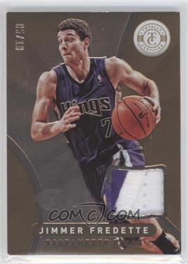 2012-13 Totally Certified - Memorabilia - Totally Gold Prime #124 - Jimmer Fredette /10