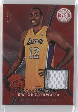 2012-13 Totally Certified - Memorabilia - Totally Red Prime #19 - Dwight Howard /49