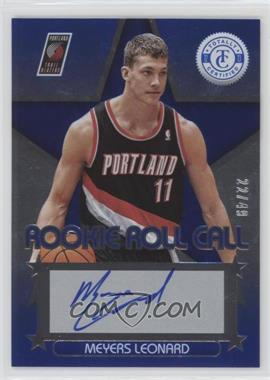 2012-13 Totally Certified - Rookie Roll Call - Blue [Autographed] #24 - Meyers Leonard /49