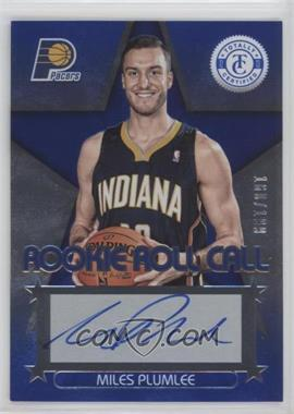 2012-13 Totally Certified - Rookie Roll Call - Blue [Autographed] #56 - Miles Plumlee /199