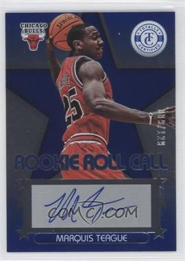 2012-13 Totally Certified - Rookie Roll Call - Blue [Autographed] #60 - Marquis Teague /129