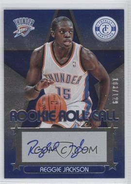 2012-13 Totally Certified - Rookie Roll Call - Blue [Autographed] #66 - Reggie Jackson /129