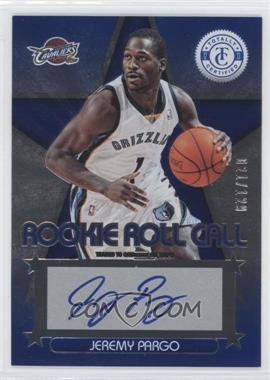 2012-13 Totally Certified - Rookie Roll Call - Blue [Autographed] #89 - Jeremy Pargo /129