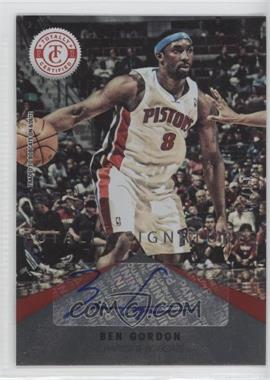 2012-13 Totally Certified - Signatures - Totally Red #19 - Ben Gordon /25