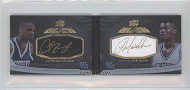 2012-13 Upper Deck Exquisite Collection - UD Black Leather Book #L-AJ - Antoine Walker, Jamal Mashburn /40