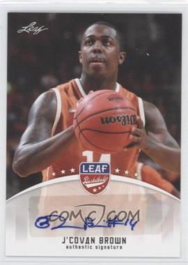 2012 Leaf - Base Autographs #BA-JCB - J'Covan Brown