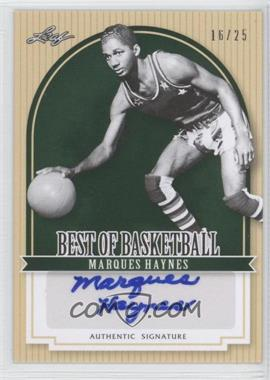 2012 Leaf Best of Basketball - [Base] - Green #MG1 - Marques Haynes /25