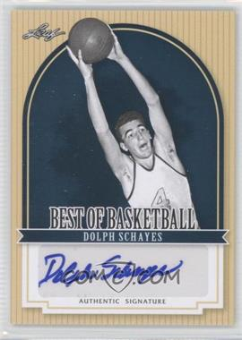 2012 Leaf Best of Basketball - [Base] #DS1 - Dolph Schayes