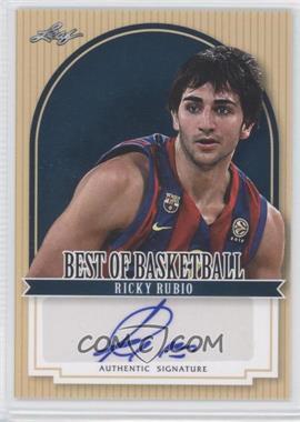 2012 Leaf Best of Basketball - [Base] #RR1 - Ricky Rubio