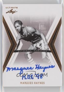 2012 Leaf Ultimate - Base Autographs #BA-MH1 - Marques Haynes