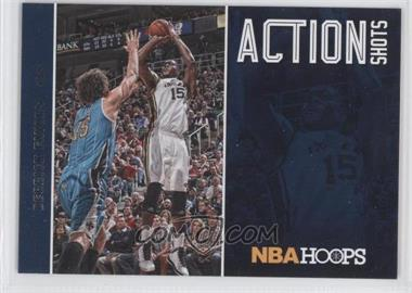 2013-14 NBA Hoops - Action Shots #16 - Derrick Favors